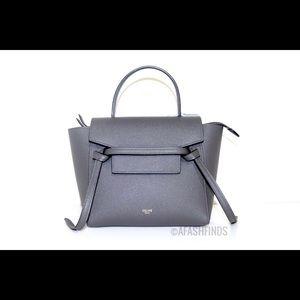 Celine Nano Belt Bag Grey Grained Calfskin